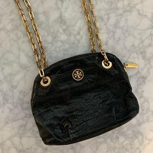 Tory Burch Mini Dena black convertible strap purse